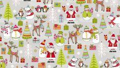 Makower Festive Christmas Fabric | Scene