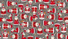 Makower Festive Christmas Fabric | Santa