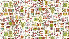 Makower Festive Christmas Fabric | Mini Christmas