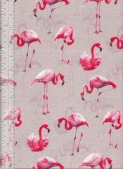 Flamingo Land Fabric