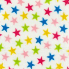 Printed Anti Pil Polar Fleece | Fun Star Ivory