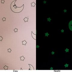 Glow In The Dark Jersey | Moon & Stars Pink