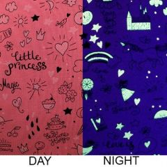 Glow In The Dark Jersey Fabric | Little Princess Pink