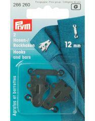 Hooks & Bars, 12mm Black | Prym