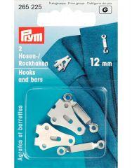 Hooks & Bars, 12mm Silver | Prym