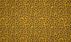 Jersey Cotton Print | Leopard Yellow