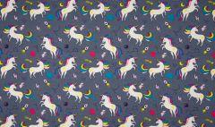 Jersey Cotton Fabric | Unicorn Grey