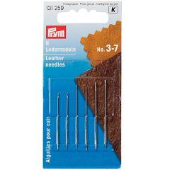 Leather Needles, Triangular Point, Asst No. 3-7   Prym