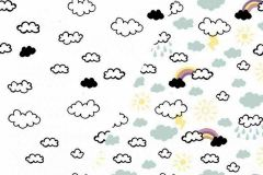 Light Reactive Jersey Fabric | Clouds