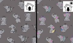 Light Reactive French Terry | Elephants
