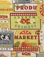 Cretonne Cotton Fabric | Market Day