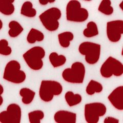 Printed Anti Pil Polar Fleece | Multi Heart Red