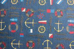 Denim Fabric Print | Nautical