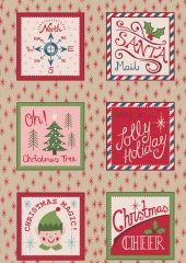 North Pole Christmas | Santa Squares on Parchment
