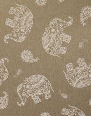 Cretonne Cotton Fabric | Paisley Elephant