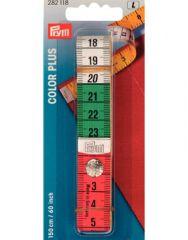 Colour Press Stud Tape Measure   Metal Tipped 60″   Prym