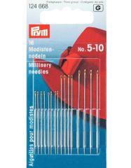 Millinery Needles, Gold Eye No. 5-10 Asst   Prym