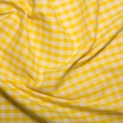 Quarter Inch Gingham Check | Yellow