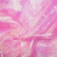 Rainbow Organza Fabric | Flo Pink
