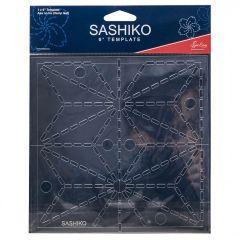 Sashiko Template 6 Inch Asa No Ha - Hemp Leaf