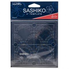Sashiko Template 4 Inch Seigaiha - Waves