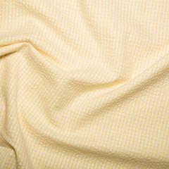 Cotton Seersucker Fabric | Yellow