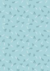 Snow Day Fabric | Sleigh Ride Icy Blue
