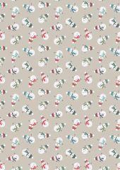 Snow Day Fabric | Scattered Snowmen Cream