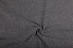 Anti Pil Fleece Fabric - Stretch   Melange Grey