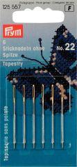 Tapestry Needles Gold Eye, No. 22 | Prym