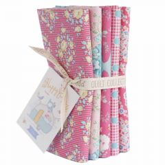 Happy Campers Tilda Fabric | Fat Quarter Bundle Rose