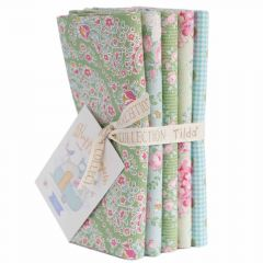 Happy Campers Tilda Fabric | Fat Quarter Bundle Teal