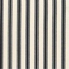 Ticking Stripe Fabric | Black