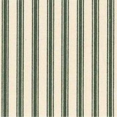 Ticking Stripe Fabric | Bottle Green