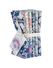 Plum Garden Tilda Fabric | Fat Quarter Bundle Blueberry