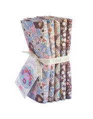 Plum Garden Tilda Fabric | Fat Quarter Bundle Nutmeg