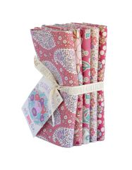 Plum Garden Tilda Fabric | Fat Quarter Bundle Peach
