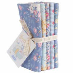 Happy Campers Tilda Fabric | Fat Quarter Bundle Blue