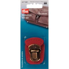 Tuck Lock Leather Red | Prym