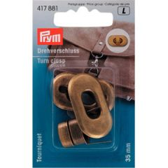 Turn Clasp For Bags Antique Brass | Prym