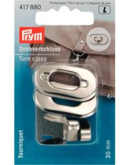 Turn Clasp For Bags Silver | Prym