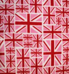 Printed Anti Pil Polar Fleece | Union Flag Pink