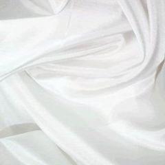 Pure Silk Fabric   Habotai   White
