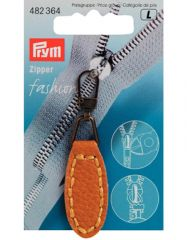 Zip Puller   Imt. Leather Oval Tab - Mustard