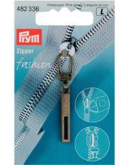 Zip Puller   Rectangle Tab - Antique Brass