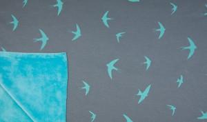 Happy Fleece Pipe Swallow Grey - Main - 103418