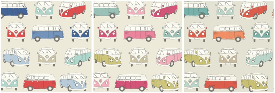 VW Campervan Fabric - 100% Cotton