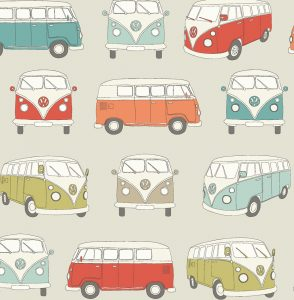 VW Campervan Fabric Multi - Main - 103808