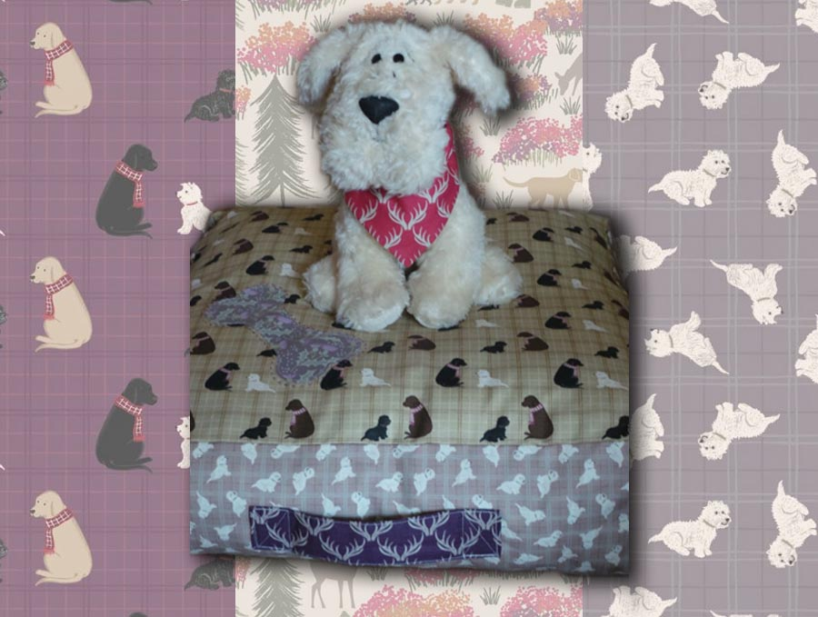 A Walk In The Glen Dog Bed Pattern Header