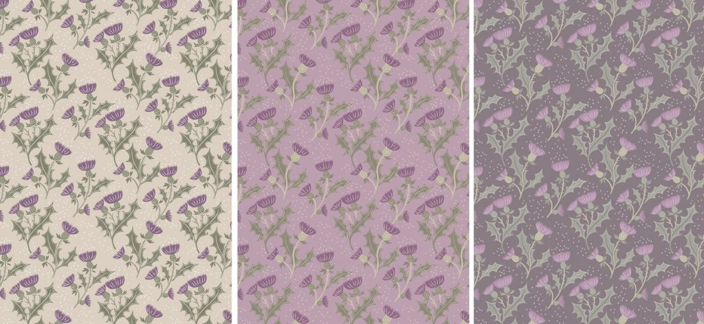 A Walk In The Glen Thistle Fabric From Lewis And Irene